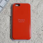 iphone6シリコン赤パッケージ四角