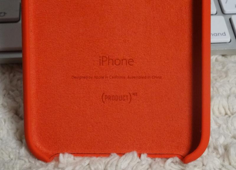 iphone6シリコン赤裏刻印